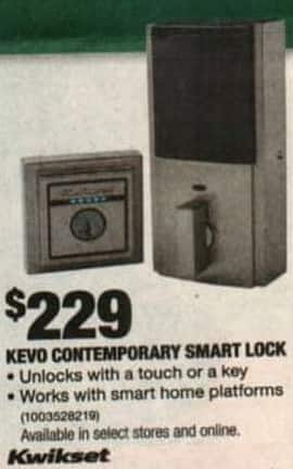 Home Depot Black Friday: Kwikset Kevo Contemporary Smart