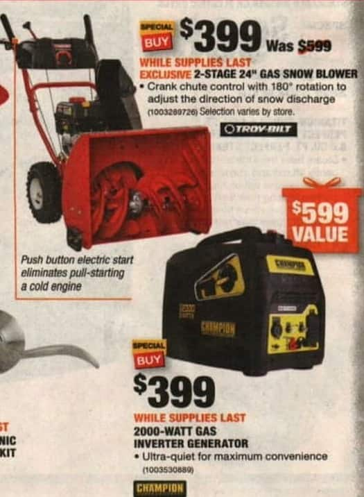 Snow Blower Black Friday And Cyber Monday Sale And Deals 2018