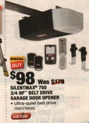 Home Depot Black Friday Genie Silentmax 750 3 5 Hp Belt