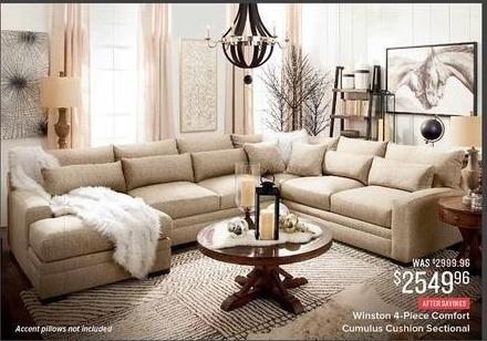 Value City Furniture Black Friday Winston 4 Piece Comfort Cumulus