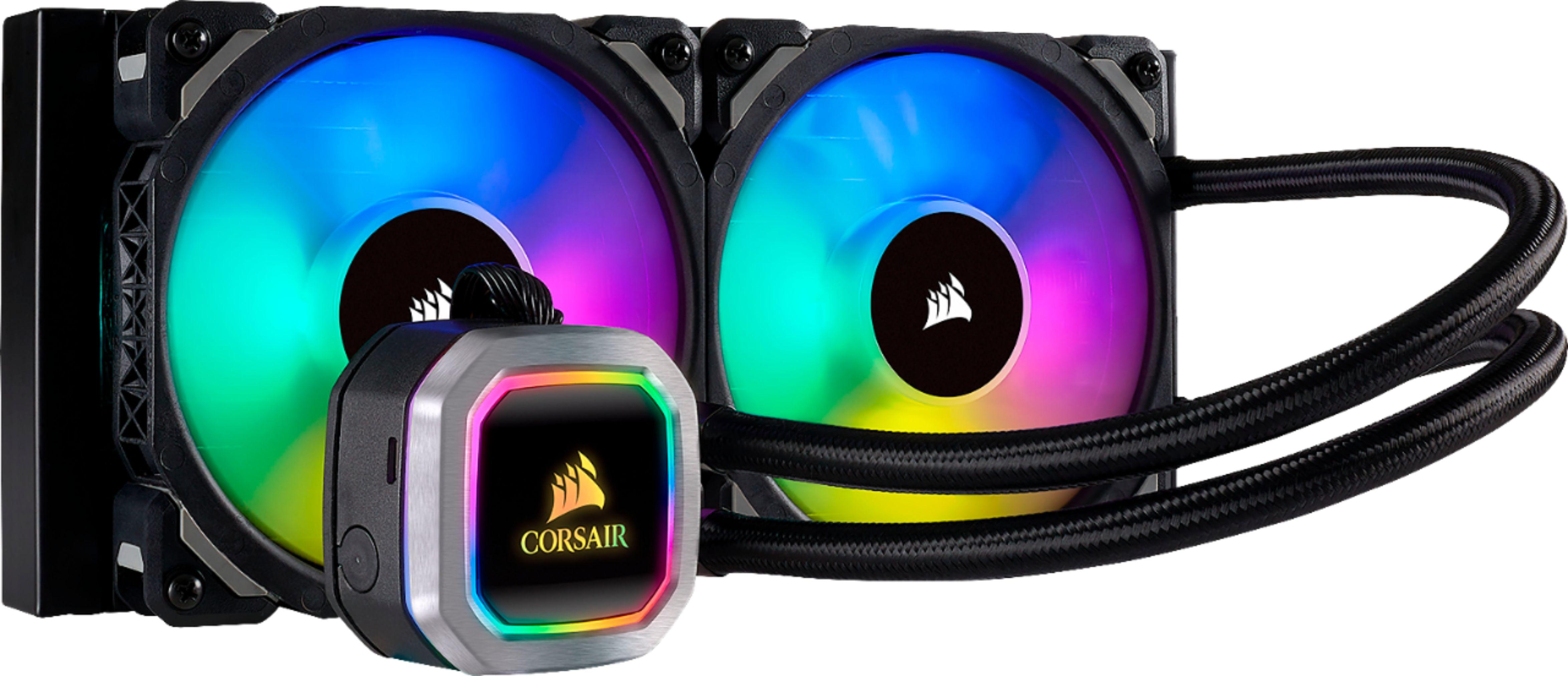 CORSAIR - Hydro Series H100i RGB Platinum 120mm Processor Liquid Cooling System with RGB Lighting - Black/Silver $139.99 + Free Shipping @ Best Buy