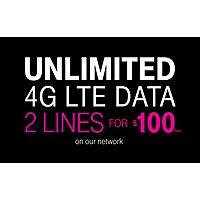 T-Mobile Deal: T-mobile 2-line $100 Unlimited 4G offer (new AND existing customers)