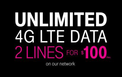 T-mobile 2-line $100 Unlimited 4G offer (new AND existing customers)