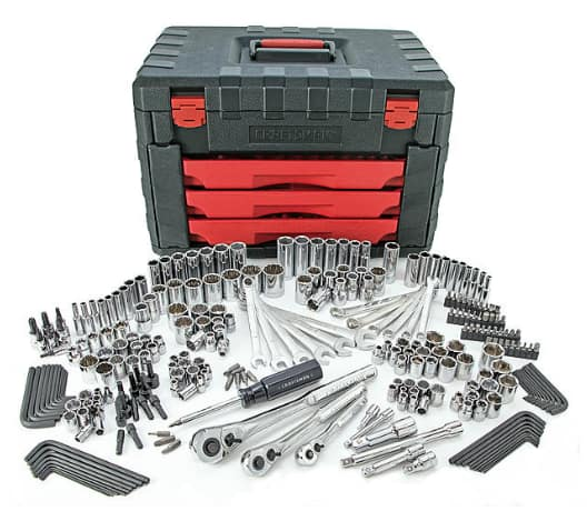craftsman 270pc mechanics tool set with 3-drawer chest - $139.99 ...