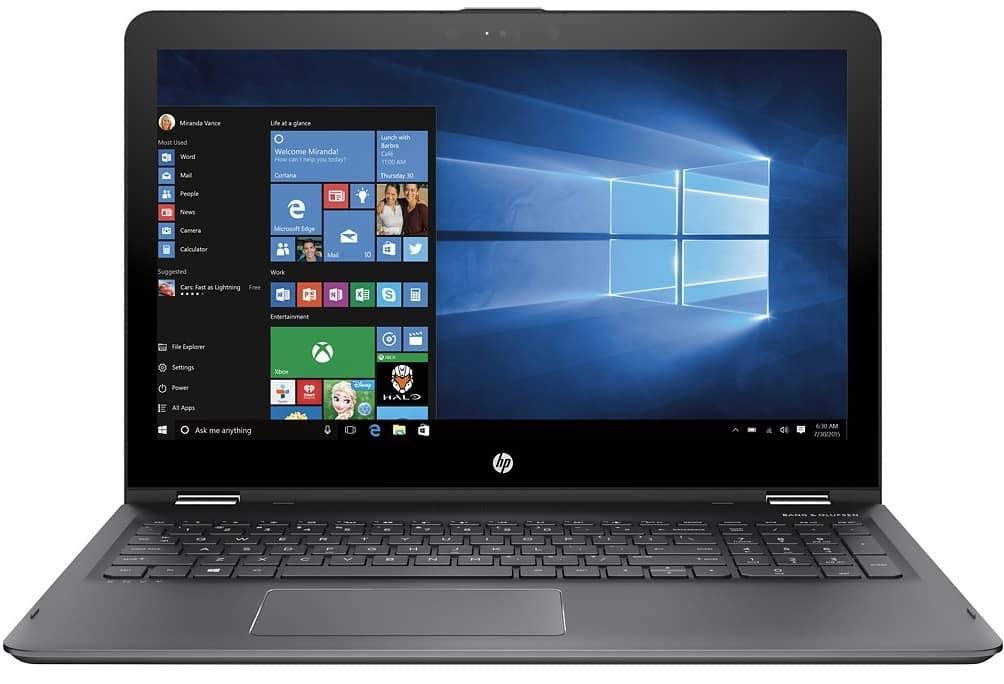 "HP - ENVY x360 2-in-1 15.6"" Touch-Screen Laptop - AMD FX - 8GB RAM - 1TB HDD - 449.99"