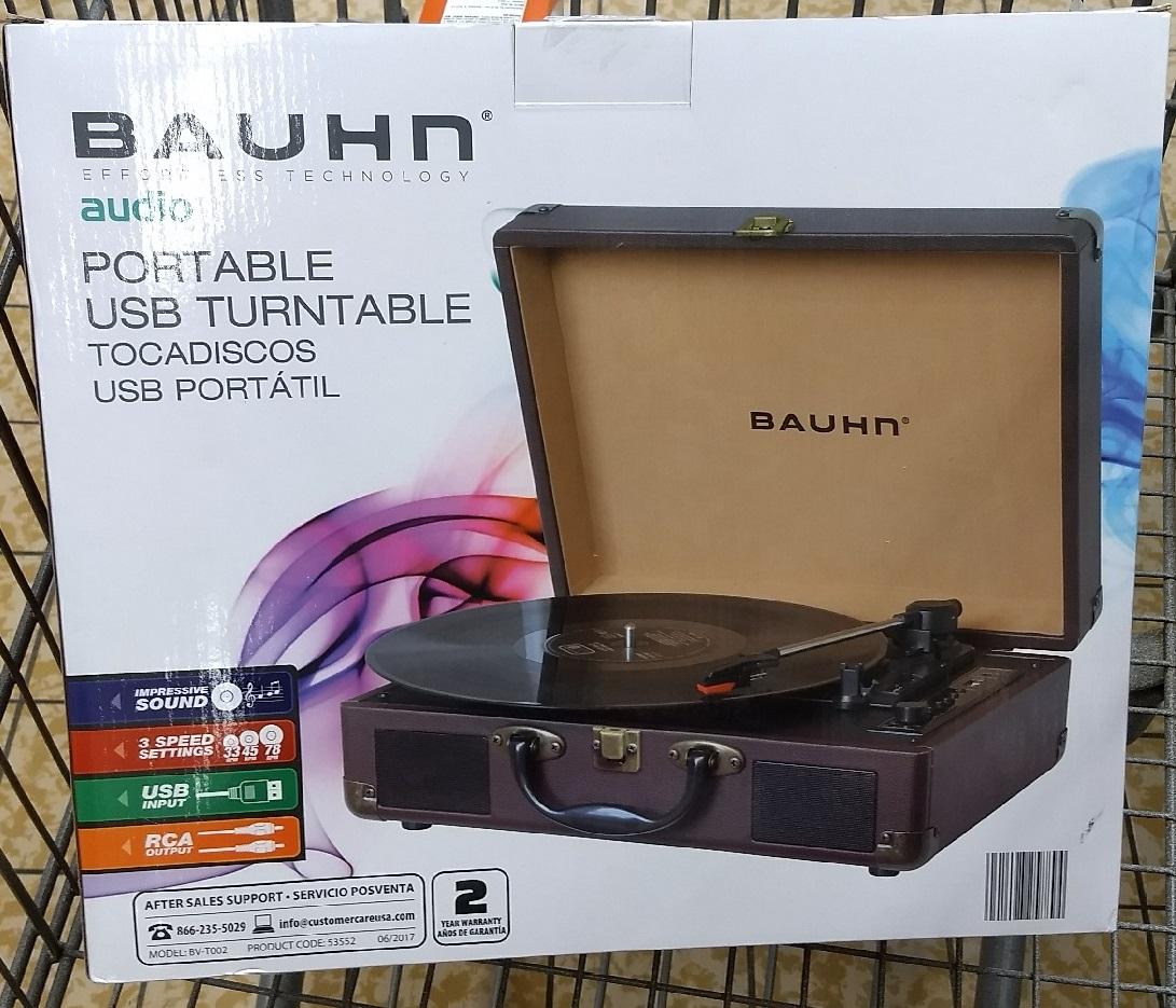 Bauhn Portable Suitcase Turntable / Record Player, Aldi B&M $40