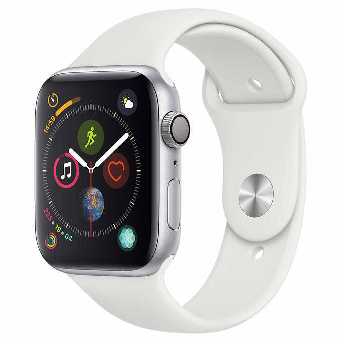 Apple watch4 GPS with White Sports Band-44mm $359.99 + Tax + Free std ship