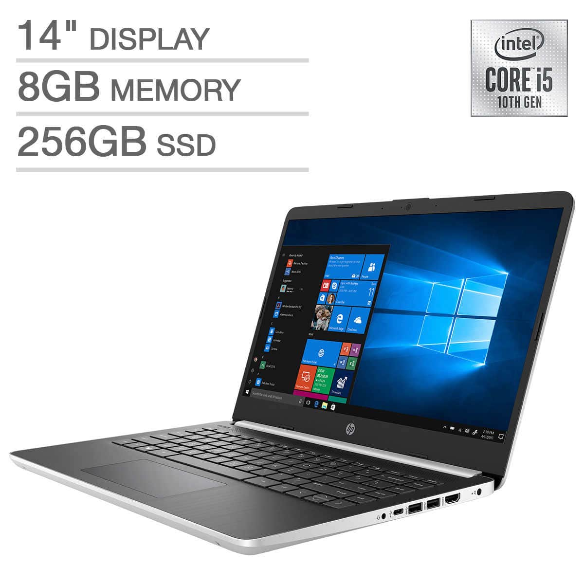 "HP 14"" 1080p i5-10th Gen i5-1035G1 / 8GB DDR4 / 256GB SSD $399"
