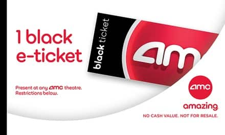 1 AMC Black E-Ticket for $10.74 at Groupon - All AMC Theatres Nationwide - No Restrictions