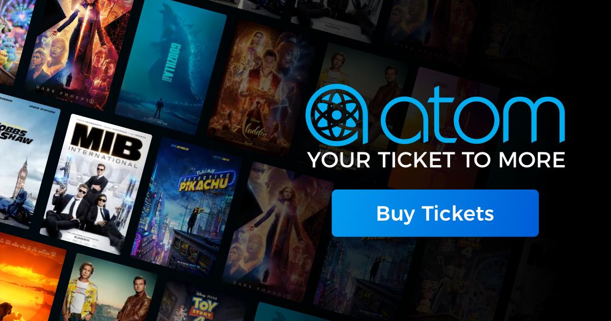 Atom Tickets: Any Movie Ticket B1G1 Free
