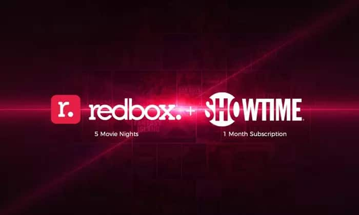 5 Redbox Movie Night Rentals and 1 Month of Showtime - $5 at Groupon