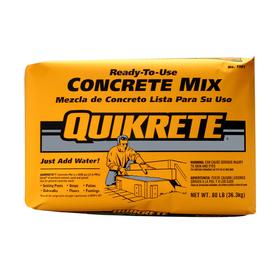 Lowes Quikrete concrete 80 lbs $2.88