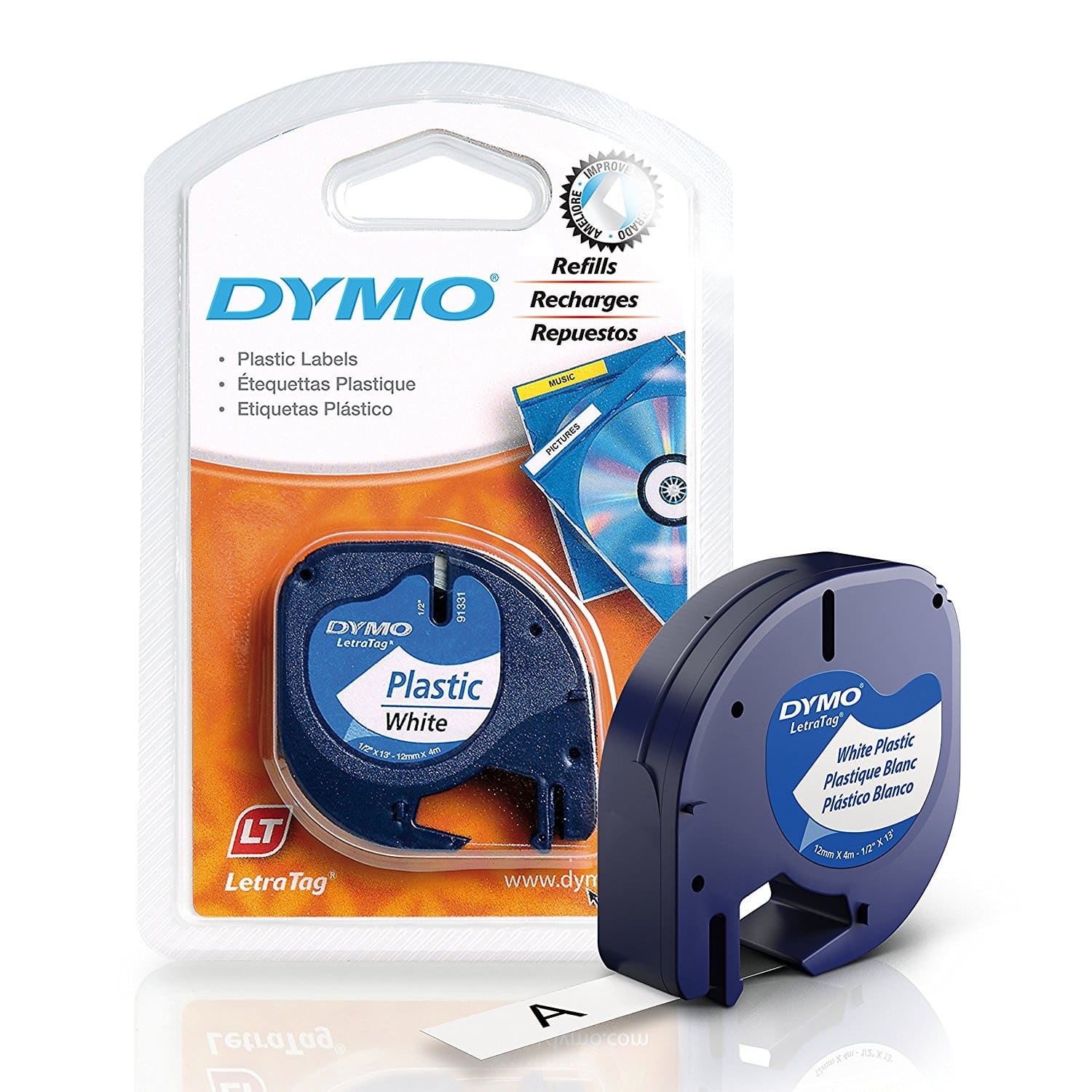 2.27 AC: DYMO LetraTag Labeling Tape for LetraTag Label Makers, 1 roll  @ Amazon $2.27