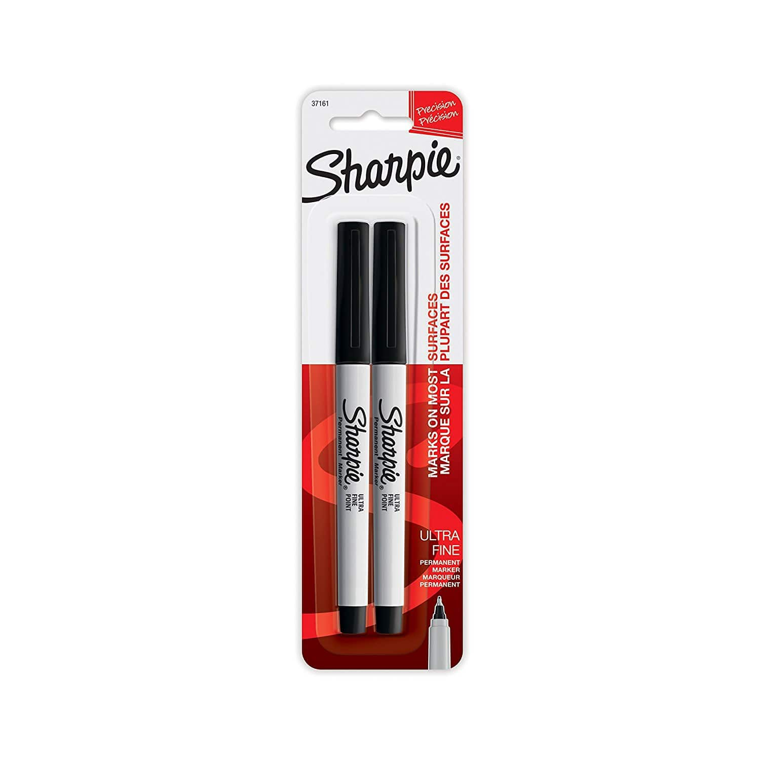 $1.64 shipped Sharpie Permanent Markers, Ultra Fine Point, Black, 2 Count w/ Prime @ Amazon