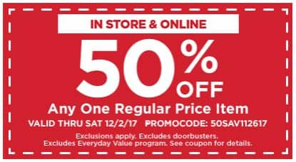 Michaels Free Shipping No Minimum + 50% off one item or 30% off sale items