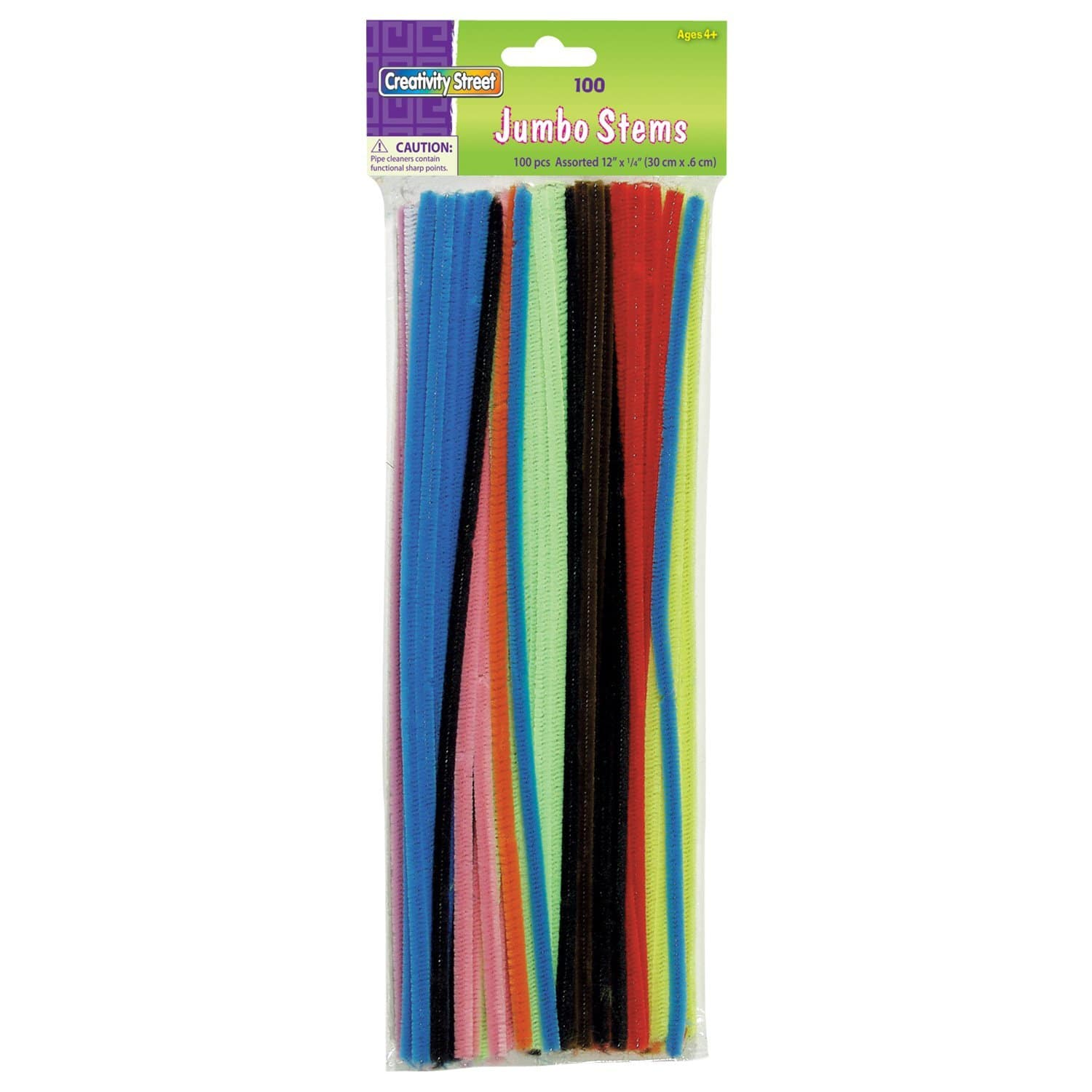 $1.23 shipped Creativity Street Chenille Stems/Pipe Cleaners 12 Inch x 6mm 100-Piece, Assorted Colors w/ Prime @ Amazon
