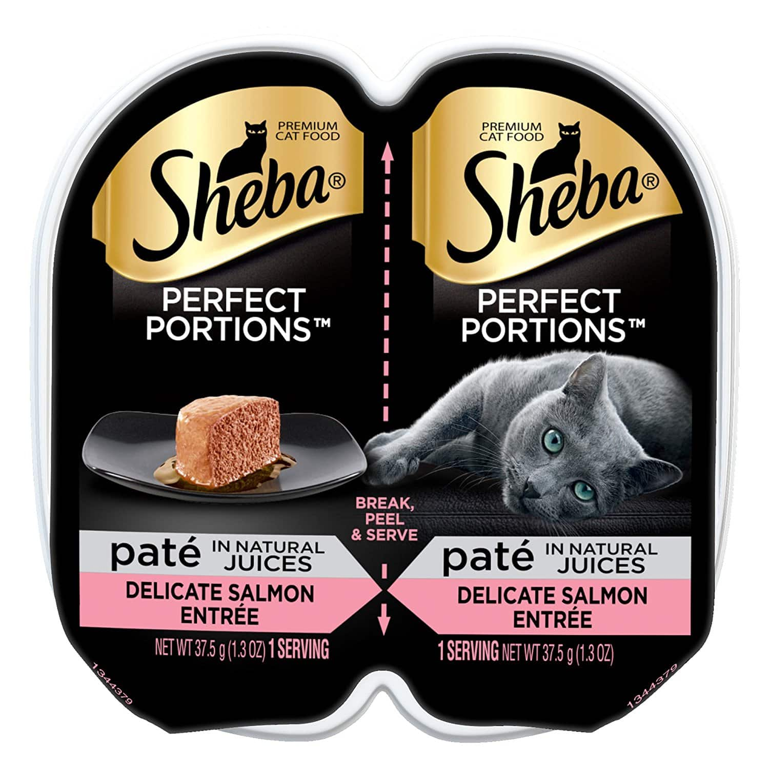Add-on item: 2.6 oz premium Pate Salmon Entree Wet Cat Food $0.69