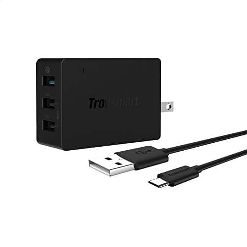 Tronsmart Quick Charge 2.0 42W 3-Port USB Wall Charger + 6' Cable $14 w/ FS @ Amazon