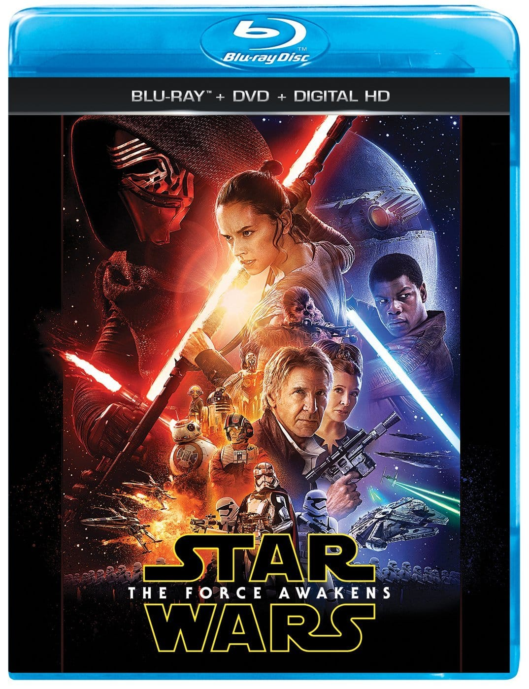 Star Wars: The Force Awakens Blu-Ray + DVD + Digital HD Free Prime shipping $17