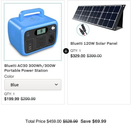 Bluetti portable power station+solar panel Save $241 no tax free shipping Top Reviews $459