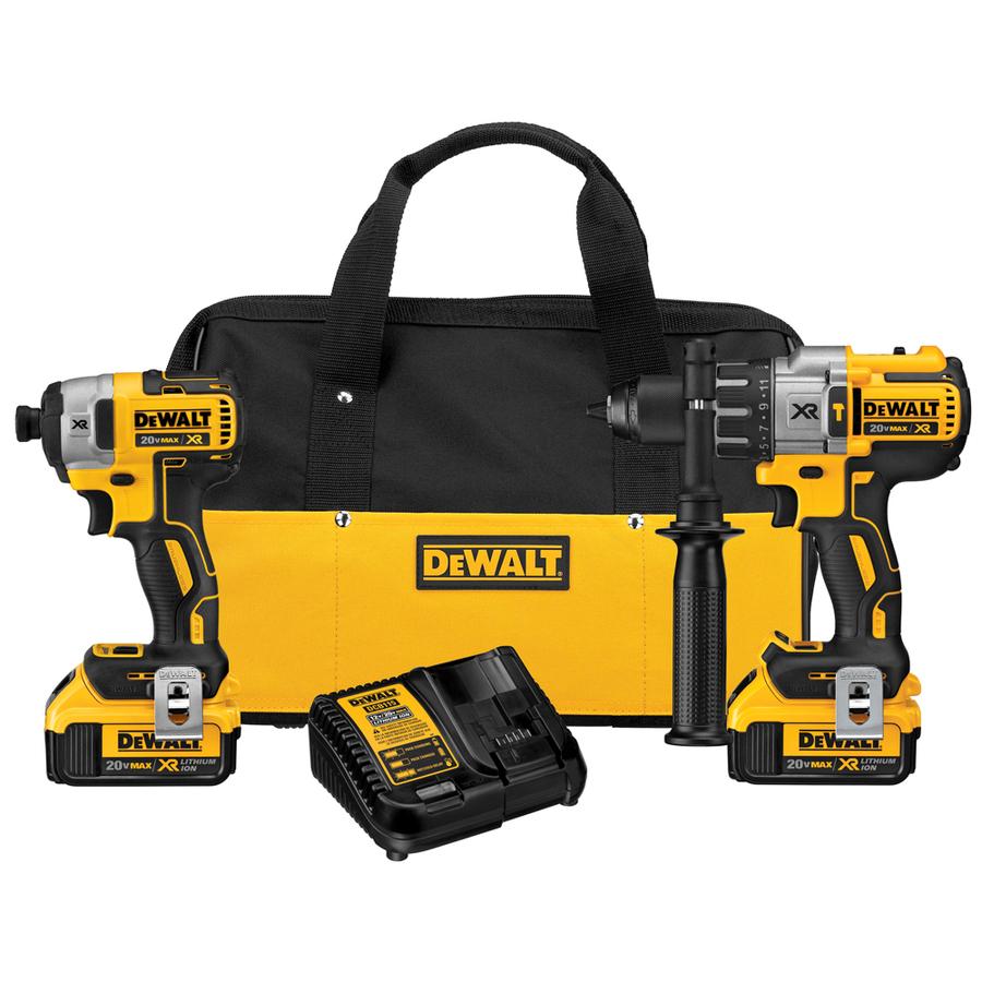 Dewalt XR Brushless 996 Hammer Drill, 887 Impact, 2 4.0Ah bats + 391 Cir Saw $320