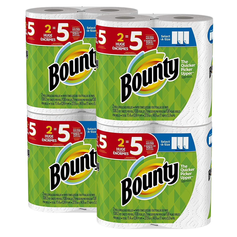 Bounty Paper Towels Select-A-Size, 8 Rolls X 3 (Total 24 Rolls) $37.57