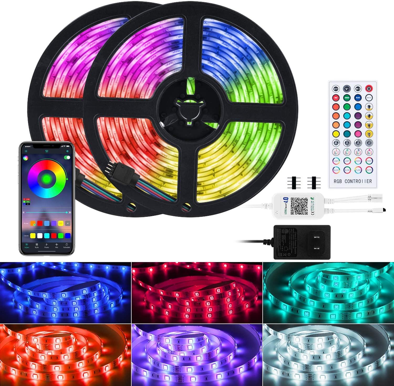 Brightown 32.8 Feet/ 300 Led Strip Lights Music Sync w/ Bluetooth Remote - $11.70 w/ free shipping