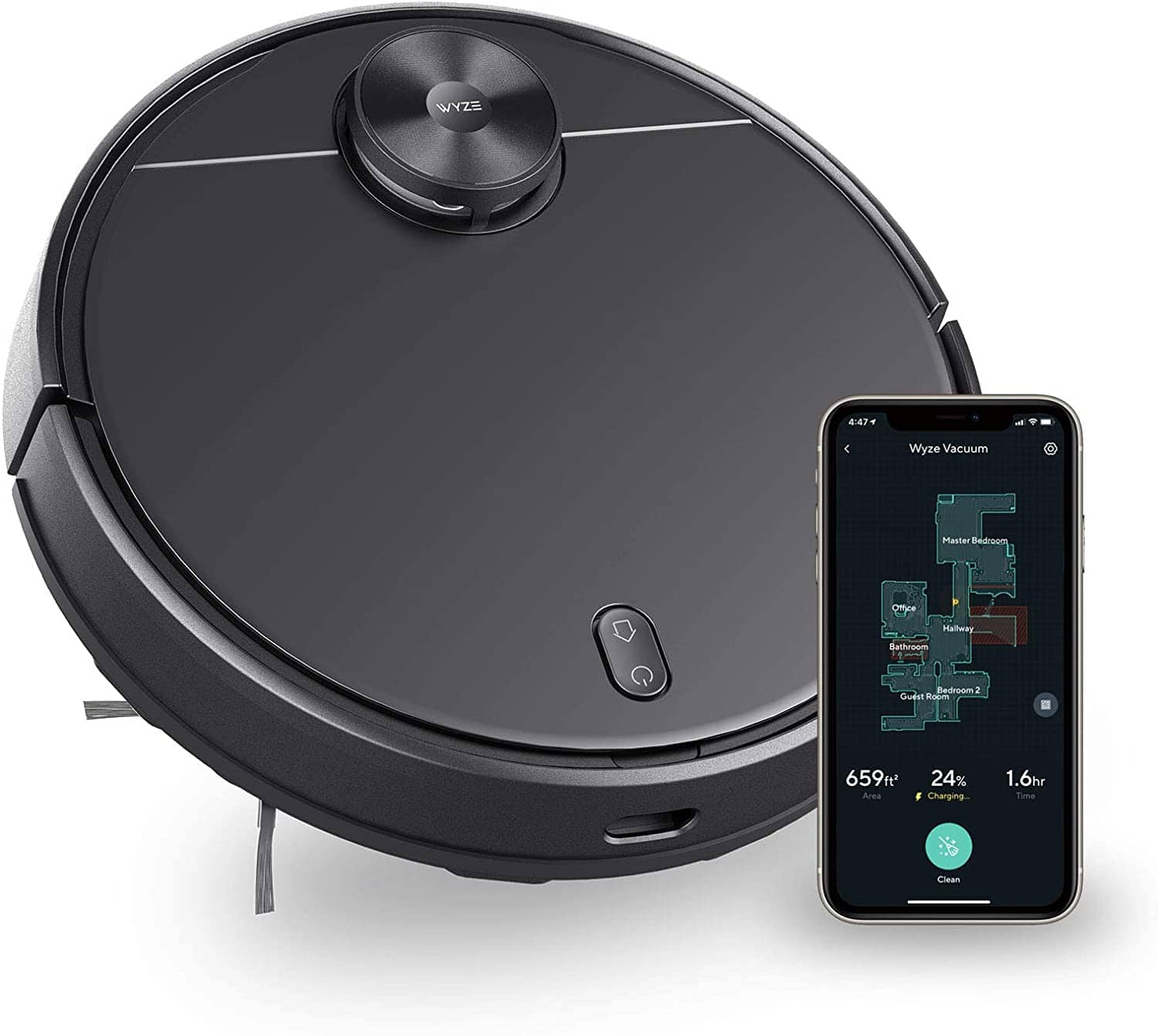 Wyze 2100Pa/ Wi-Fi Connected/ Self-Charging Robot Vacuum with LIDAR Mapping Technology - $254.99 w/ free shipping