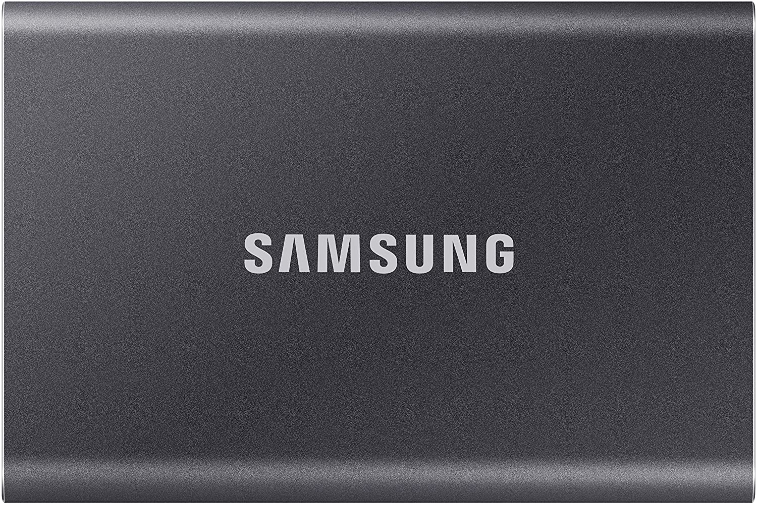 SAMSUNG T7 Portable SSD 1TB - Up to 1050MB/s - USB 3.2 External Solid State Drive, Gray (MU-PC1T0T/AM) $149.99