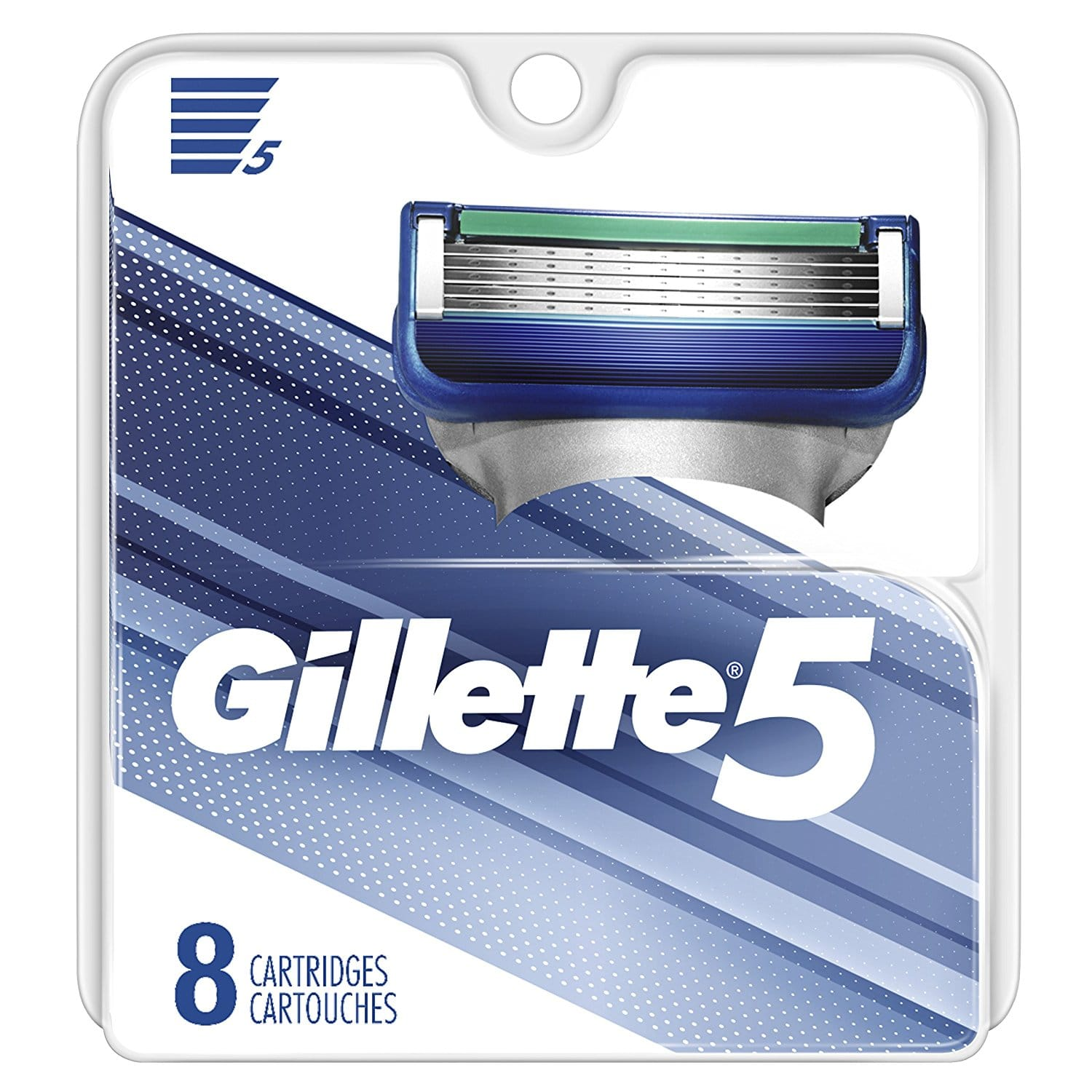 Gillette 5, 8-count, $11.99 plus FS with Amazon Prime