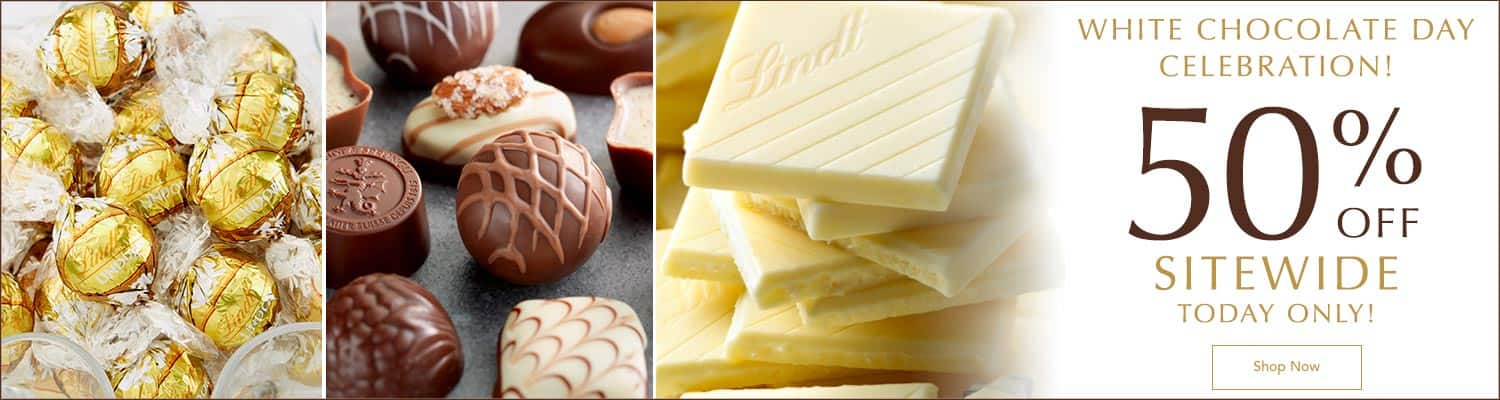 Lindt USA 50% off sitewide