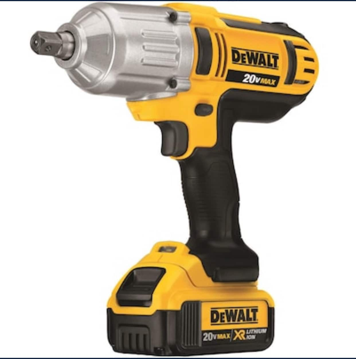Lowes DEWALT XR 20v Brushless 1/2-in Drive Cordless Impact Wrench (2x4 Ah-Batteries) and 10-Piece 1/2-in-Drive Hex Bit Driver Socket Set $229