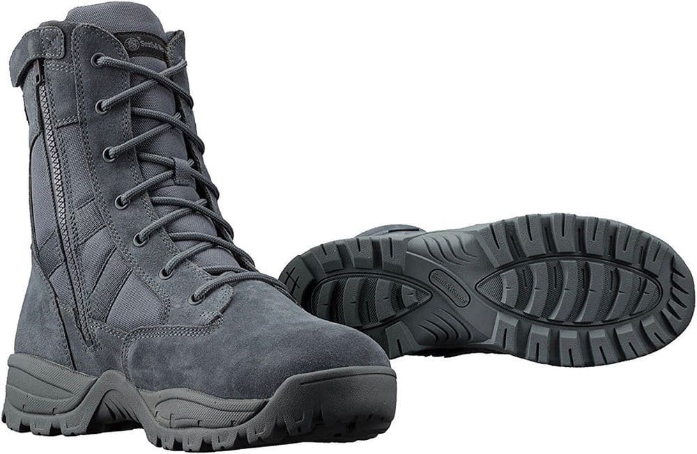 "Smith & Wesson Breach 2.0 Waterproof 9"" Side Zip Tactical Boots, Gunmetal Grey US $46.99 NEW"