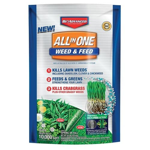 YMMV - BAYER ADVANCED Lawn Weed and Feed 24-lb 10000-sq ft 22-0-4 Fertilizer @ $4.5