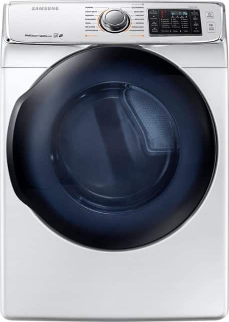 Samsung - 7.5 Cu. Ft. 14-Cycle Gas Dryer with Steam - White $629.99