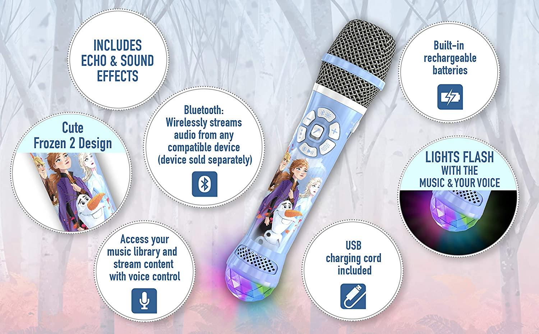 eKids Disney Frozen 2 Bluetooth Karaoke Microphone with LED $26.99