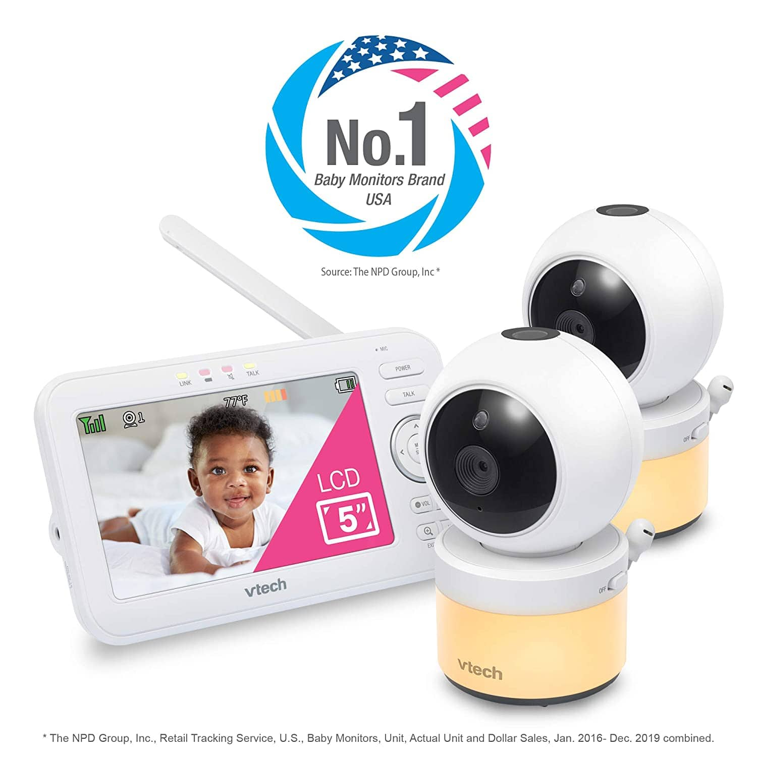 """VTech VM5463-2 Video Baby Monitor with 5"""" Screen  FREE SHIPPING   $129.99"""