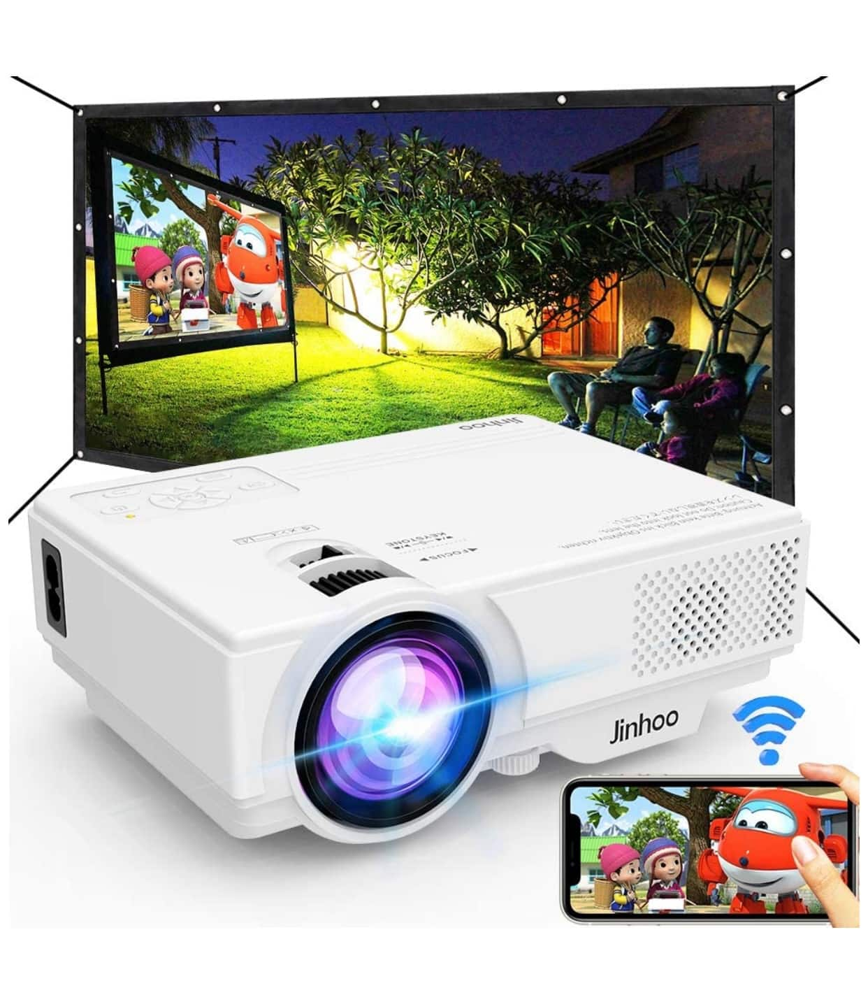 WiFi Mini Projector, 2020 Latest Update 5500 Lux $99.89