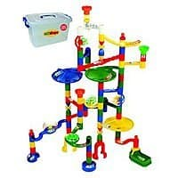 Amazon Deal: Marbulous Modular Marble Run w/82 Pieces Plus 50 Marbles Total of 132 Pieces + Safe Reusable Plastic Bucket For $49.95 @ Amazon