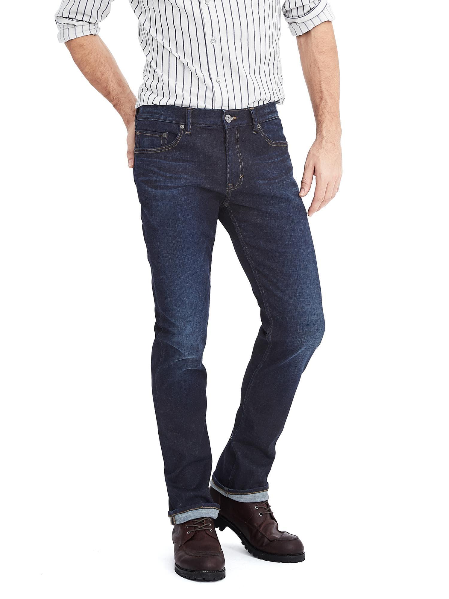 Banana Republic Slim Rapid Movement Dark Wash Jeans $46.50