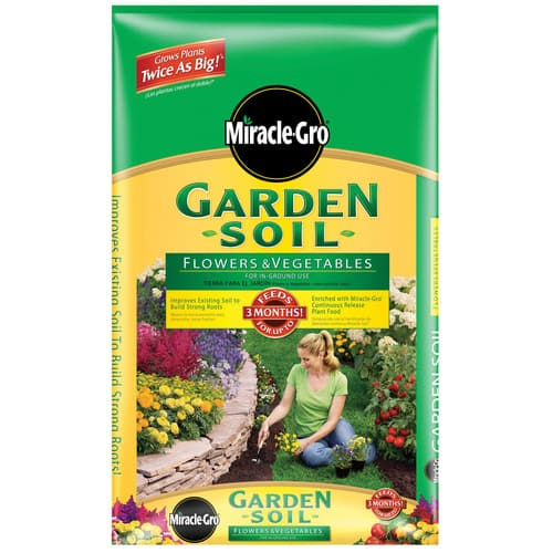 Lowes - Miracle-Gro 1 Cu. Ft. Flowers and Vegetables Garden Soil - $2.50