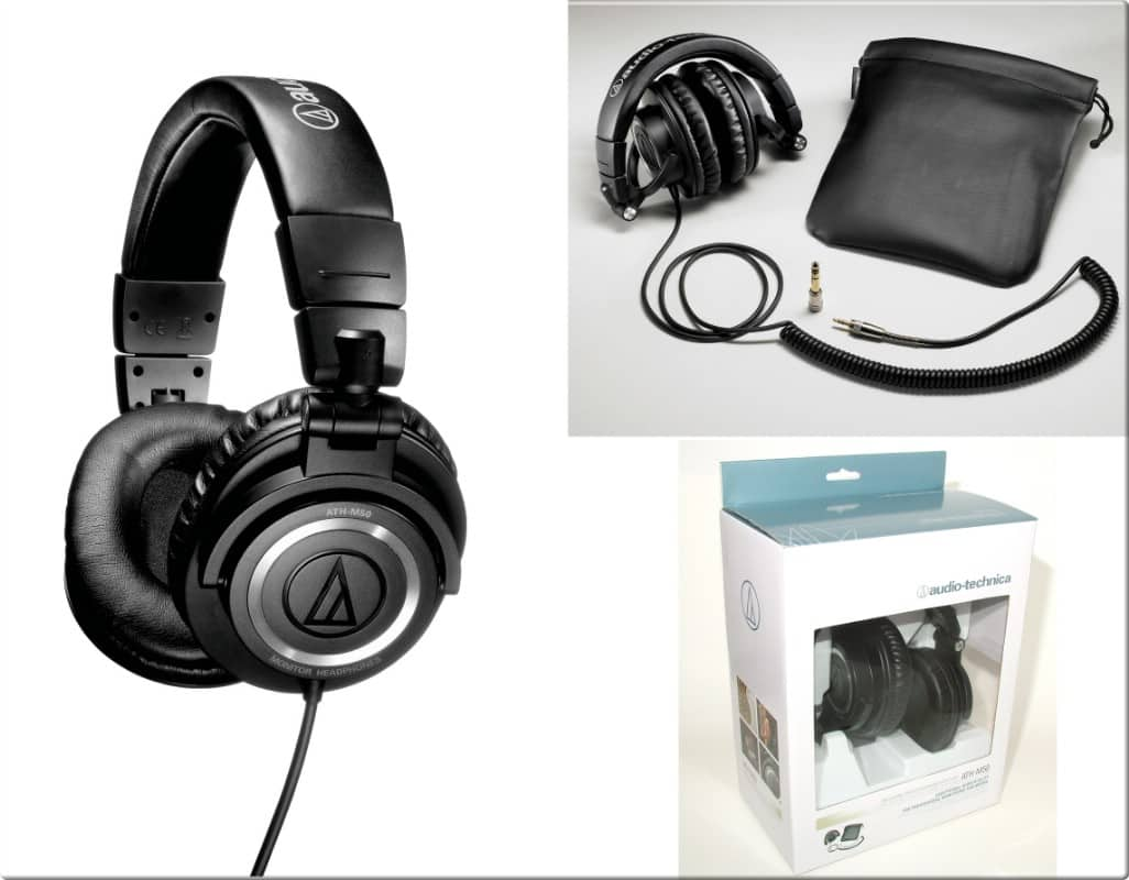 *Back Again* Audio Technica ATH-M50 Headphones (Coiled or Straight Cable) $100 + Shipping