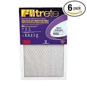 3M Filtrete Ultra Allergen Reduction Filters, 1500 MPR, 12-Inch by 24-Inc by 1-Inch, 6-Pack (2020DC-6)