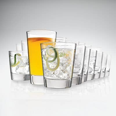16-Piece SONOMA life + style Glassware Sets (Various Styles) $11.99 + $0.99 shipping