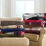 JCP Home Microplush Solid or Print Throw (Assorted Styles)