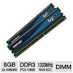 8GB (2x4GB) Patriot Gamer 2 Series DDR3 1333 Desktop Memory (PGD38G1333ELK)