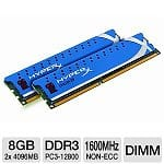 8GB (2x4GB) Kingston HyperX DDR3 1600 Desktop Memory (KHX1600C9D3K2/8GX)