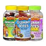 4x 190-count L'il Critters Gummy Vites: Multi-Vitamin & Mineral Dietary Supplement (Assorted Flavors), Dietary Supplement (Sours), Immune C Plus Zinc & Echinacea