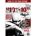 PC Digital Download Games: Batman: Arkham City GOTY Edition $19, Batman: Arkham Asylum GOTY Edition $4, F.E.A.R. 3 $4, Bastion $3, The Lord of the Rings: War in the North
