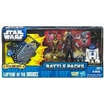 Star Wars Battle Packs: Capture the Droids $6, Cad Bane's Escape $11, Assault on Geonosis